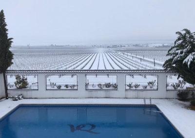 Paisaje nevado Bodegas VQ