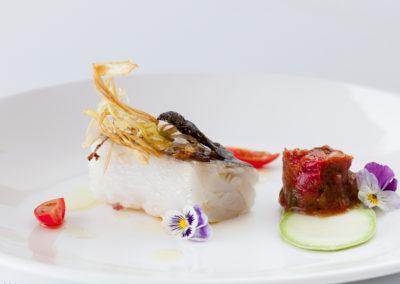 Plato Bacalao Restaurante Las Musas