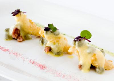 Plato mar y mancha Restaurante Las Musas